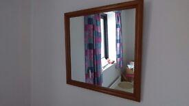 Pine square bedroom mirror