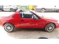 BARN FIND FLASHY RED SPORTS CAR HONDA CRX VTEC CONVERTABLE HARD TOP VTEC 1.6 CHEAP LOW MILEAGE