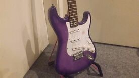 Gypsy Rose Strat Style Electric Guitar - Purple - Collection Only.