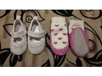 7 x baby girl shoes