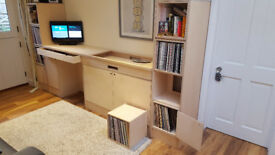 Custom built DJ and record stand/units, high quality plywood, hand finished.