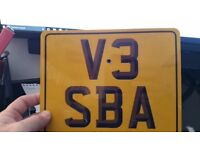 Private Number Plate on Retention Certificate V3 SBA