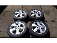 Genuine Vauxhall Corsa SXI Alloy Wheels & Good Tyres - Corsa D & C, Combo Van Astra, Agila, Tigra