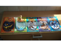 FIVE Beast Quest BOOKS with card