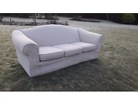 3 seater settee with removable, washable covers