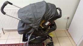 Graco strollers with car seat and safty seat fix with rain protector