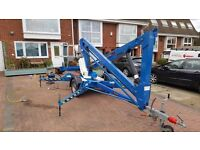 CHERRY PICKER TOWABLE ACCESS PLATFORM. Great condition new batteries fully working