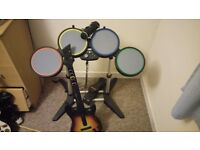 X box 360 rock band hardware and game