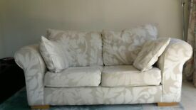 MUST GO BEFORE FRIDAY. Cream 2/3 seater sofa good condition