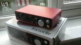 Focusrite 2i2 USB recording interface