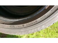 Part Worn - 2x nearly new Bridgestone Turanza tyres 205/55/15 v