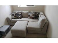 Corner Sofa with Foot stool, as new condition.