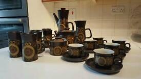 Vintage Mid Century 16 piece Denby Arabesque tea and coffee service...