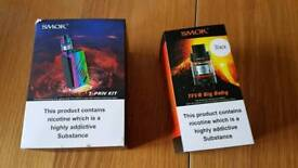 SMOK T-PRIV KIT MOD AND EXTRA TFV8 BB LIKE NEW IN BOX