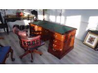 Partners Desk (Double Sided) In Mahogany