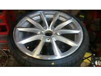 GENUINE BMW Z4 STYLE 296 REAR 19 X 9J ALLOY WHEEL WITH NEW LANDSAIL 255 30 19 TYRE