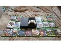 Xbox 1S AND 18 GAMES
