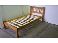 UNUSED. 3ft single solid wood wooden pine bed frame bed stead bedstead