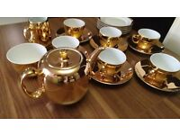 Porcelain Gold Tea Set