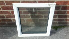 Double glazed glass window units