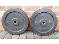 20KG BODYMAX CAST IRON OR TRI GRIP WEIGHT PLATES