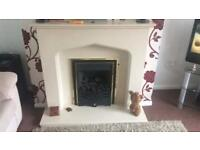 Fire place with gas fire