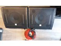 Thomann Box Pro A12 active stage monitors x 2