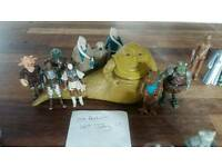 Vintage star wars jabba the hutt with figures