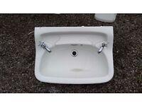 Bathroom Sink & Pedestal - old fashioned.