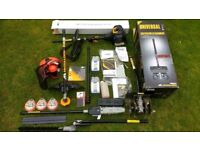 McCulloch garden multi-tool attachments; pruner, hedge cutter, line strimmer, cultivator + lots more