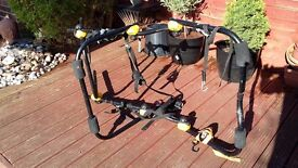Rear mounted car bicycle carrier