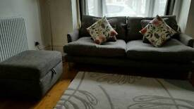 DFS Sofa and Foot Stool