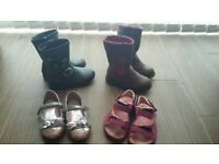 Bundle of girls shoes and boots - size 8