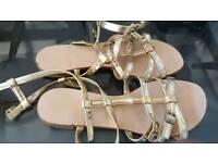 Dune Gold Sandals