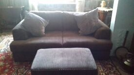 2 seater sofa, brown,as new condition.