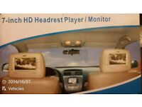 2 brand new higd quality ycar dvd player monitor