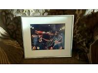 Mike tyson signed framed photo