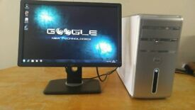 Home Business Dell Insipron 530 Computer Desktop Tower PC & Dell 19