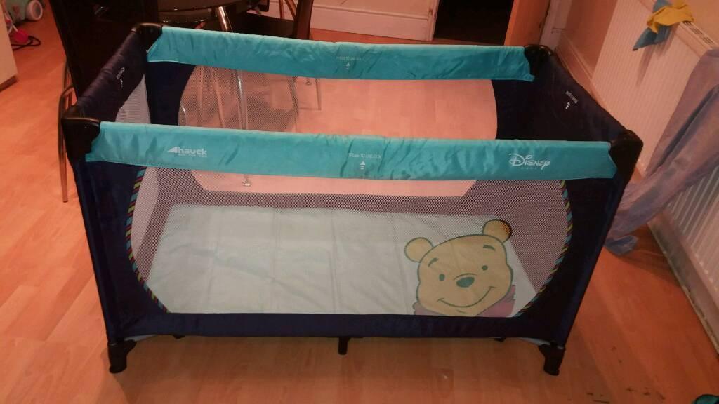 Disney winnie the pooh travel cot
