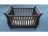 Boori Country Sleigh Cot Bed - English Oak