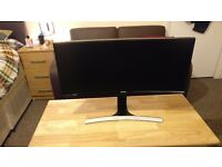 "Samsung SC790 Series S34E790C 34"" LCD Monitor, built-in Speakers"