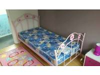 GIRLS SINGLE BED & MATTRESS