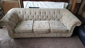 Large 3-Seater Chesterfield style Sofa