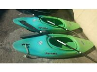 2 kayaks Pyranah Inazone 242 pick up only. West Wales