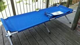 Brand new aluminium camp bed