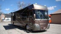 2008 Gulf Stream Tourmaster DIESEL PUSHER W/3-SLIDE-OUTS,LEATHER
