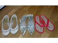 Ladies summer shoes 3 pairs