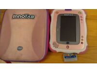 Two Pink VTech Innotab 2 - complete with pink carry case, original cartridge and 6 games