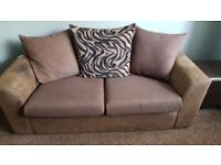 Sofas Suite - Brown, 1x 3 Seater 1x2 Seater 1x Brown Footstool