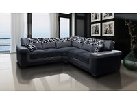 ***BRAND NEW*** Luxury Chenille Fabric And Leather Symphony Corner Sofas and Sofa Sets